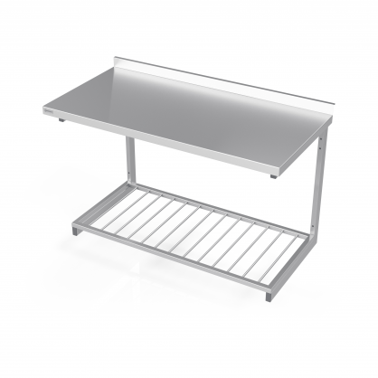 Pakabinamas stalas su lentyna iš strypų