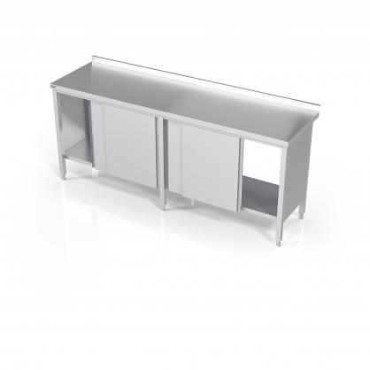 Virtuvinis darbo stalas su slankiojančiomis durelėmis