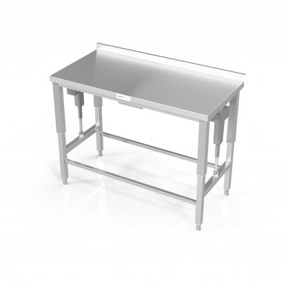 Reguliuojamo aukščio stalas su rėmu modulinėm lentynom