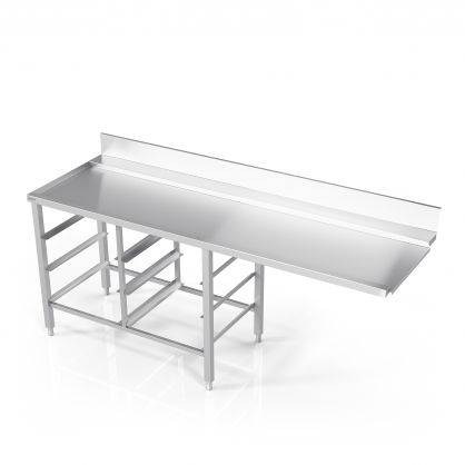 Table to Dishwasher With 6 Guides for Dishwasher Baskets
