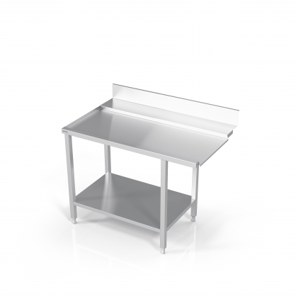 Stalas prie indaplovės su lentyna
