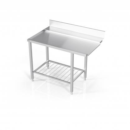 Stalas prie indaplovės su lentyna iš strypų