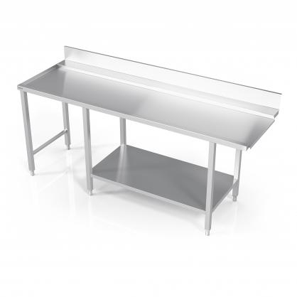 Stalas prie indaplovės su lentyna ir šešiomis kojomis