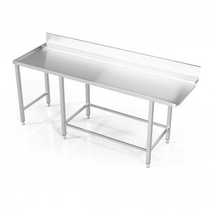 Stalas prie indaplovės su rėmu modulinėm lentynom ir šešiomis kojomis