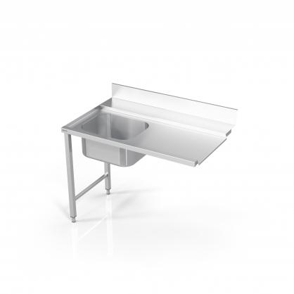 Stalas prie indaplovės su rėmu ir plautuve