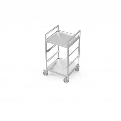 Chariot pour paniers de lave-vaisselle avec 2étagères pleines