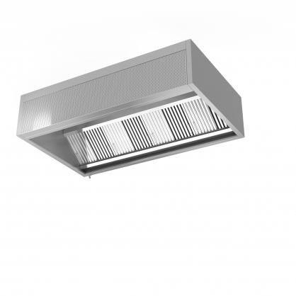 Priesienis ventiliacinis gaubtas su oro padavimu