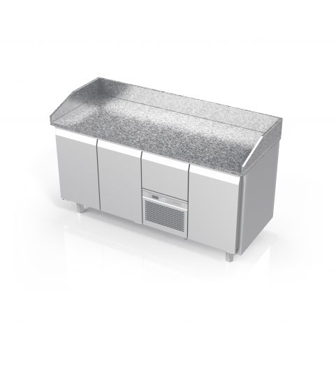 Island At Standard Counter Height Eating Section Dropped: With Granite Tabletops