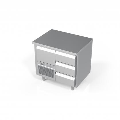 Šaldomas stalas 4 stalčių, -5 ... +8 °C