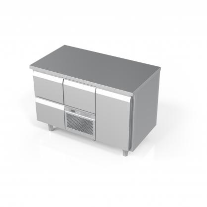 Šaldomas stalas 3 stalčių ir 1 durų