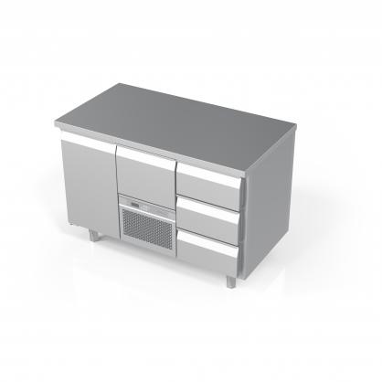 Šaldomas stalas 4 stalčių ir 1 durų