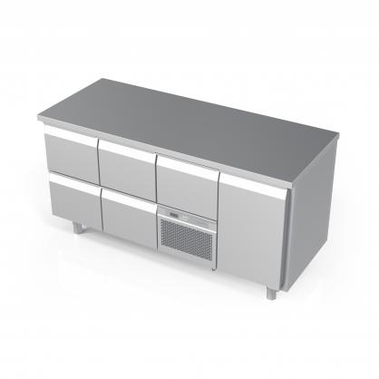 Šaldomas stalas 5 stalčių ir 1 durų