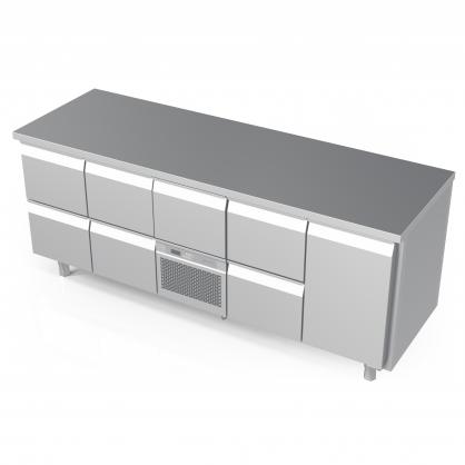 Šaldomas stalas 7 stalčių ir 1 durų, -5 ... +8 °C