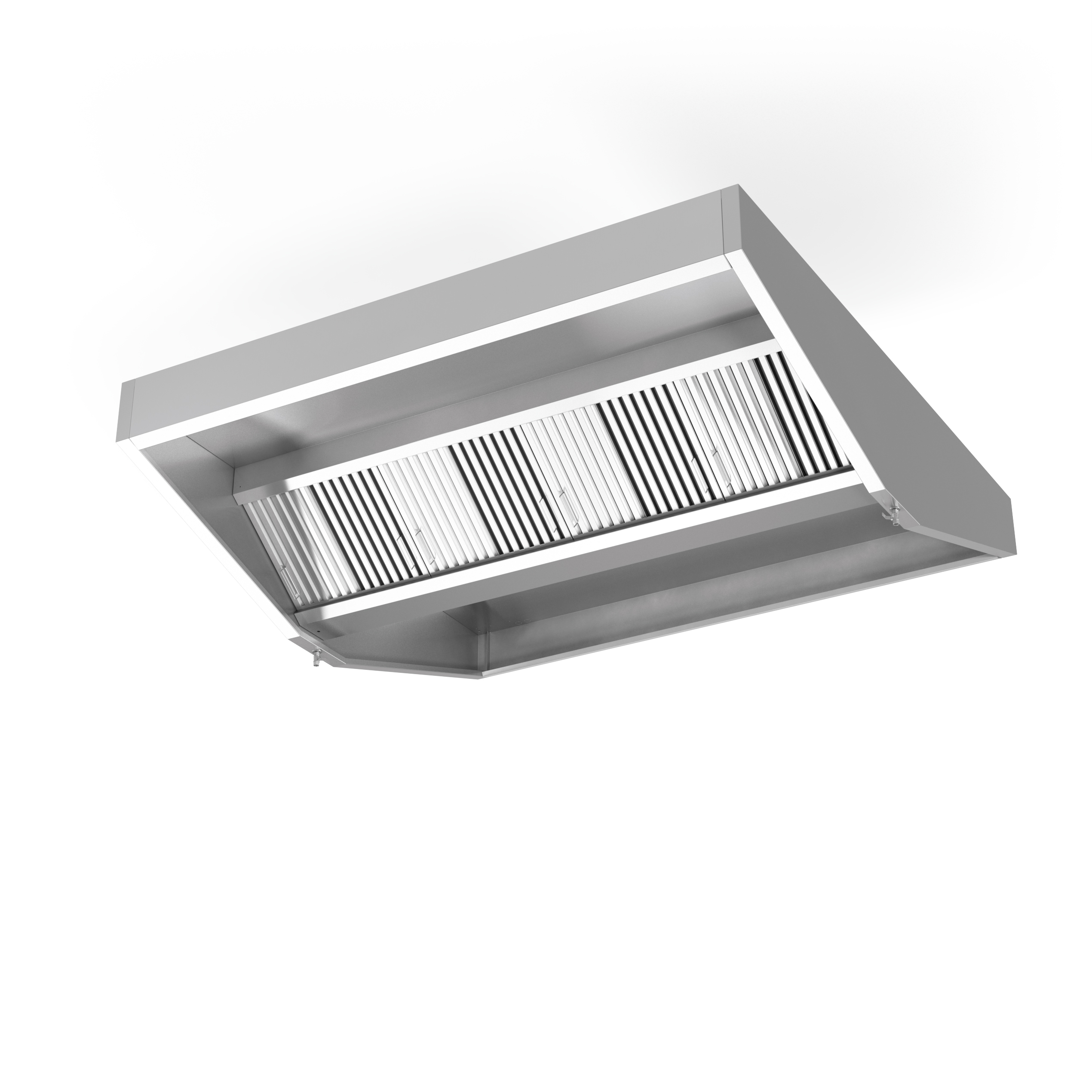 Exhaust Hoods Product ~ Ceiling mounted hood with filters exhaust only