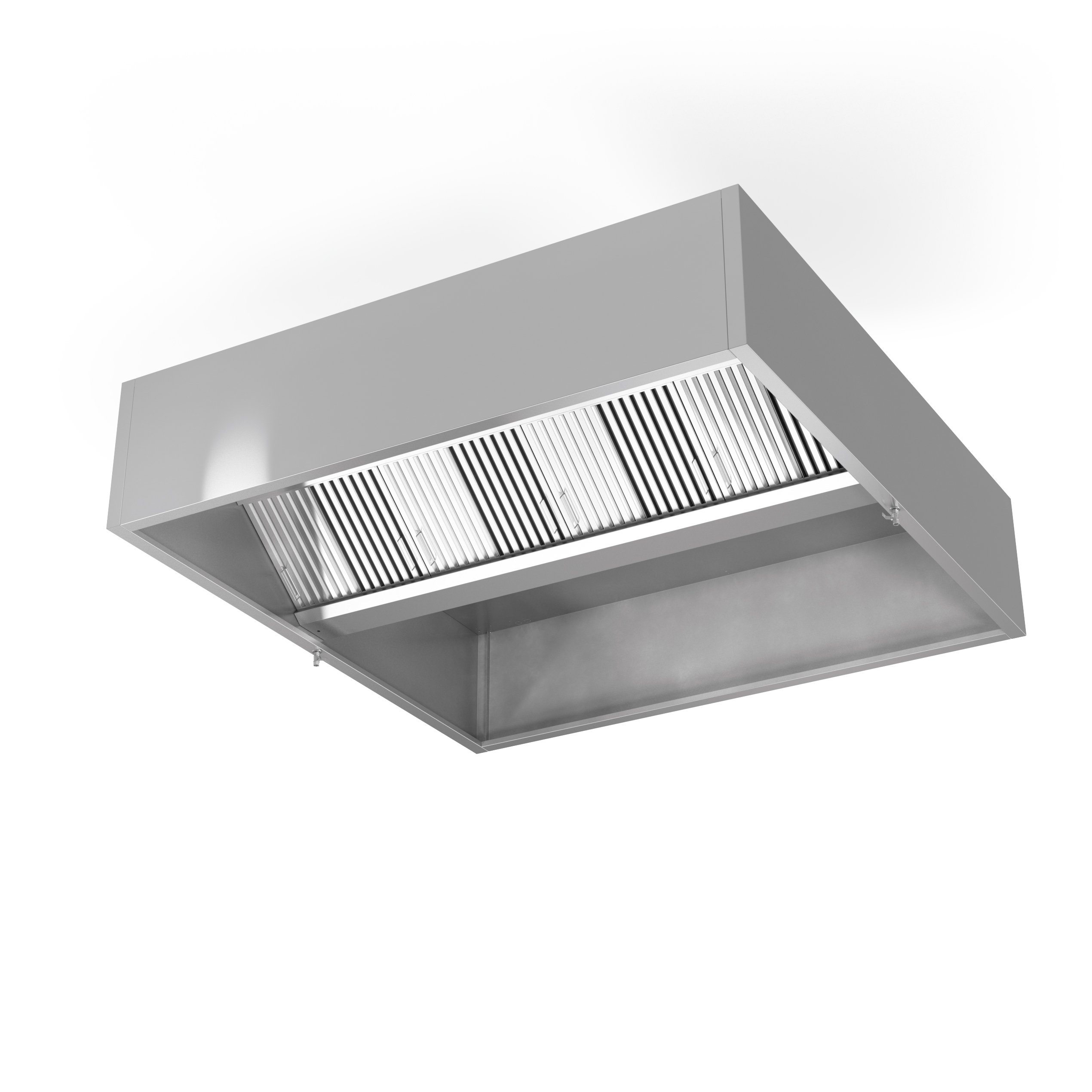 Exhaust Hood Filters ~ Ceiling mounted hood with filters exhaust only